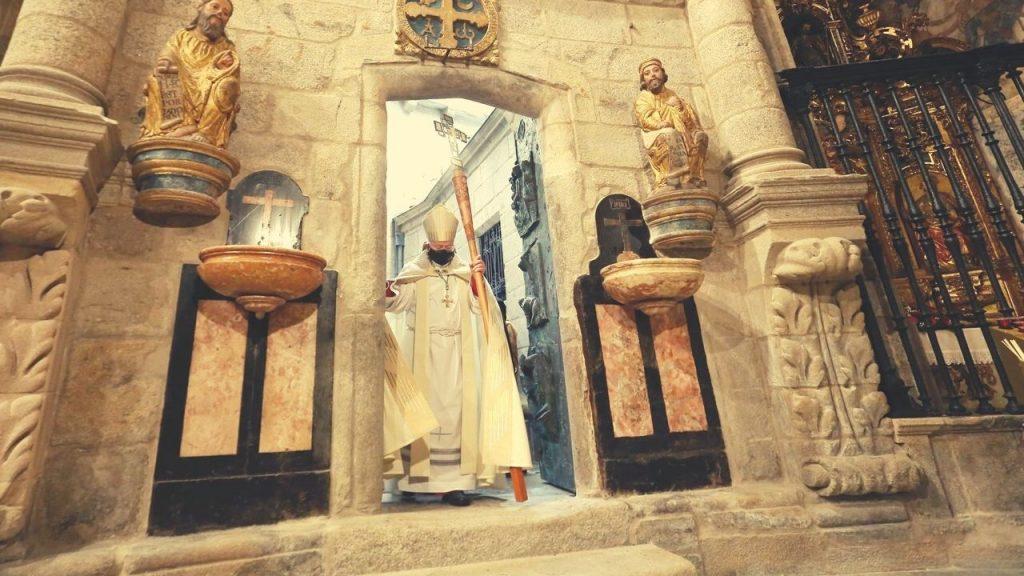 apertura porta santa anno cattedrale santiago di compostela xacobeo 2021 2022